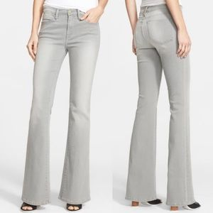 Frame Denim Le High Flare Grey Trouser Jeans